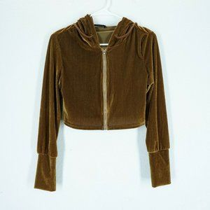 SHEIN Womens Size Large Full Zip Cropped Hoodie